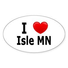 I Love Isle Sticker (Oval)