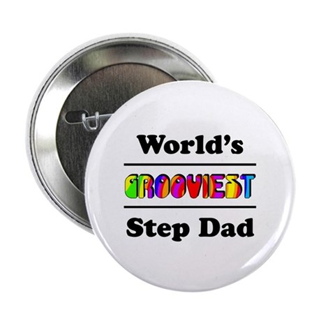 """World's Grooviest Step Dad 2.25"""" Button (10 pack)"""