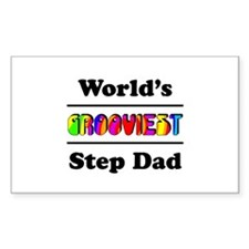 World's Grooviest Step Dad Decal