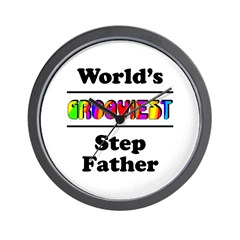 World's Grooviest Step Father Wall Clock