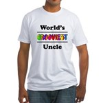 World's Grooviest Uncle Fitted T-Shirt