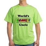 World's Grooviest Uncle Green T-Shirt