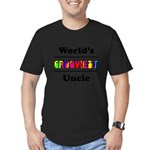 World's Grooviest Uncle Men's Fitted T-Shirt (dark