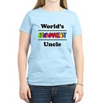 World's Grooviest Uncle Women's Light T-Shirt