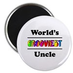World's Grooviest Uncle Magnet