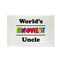 World's Grooviest Uncle Rectangle Magnet