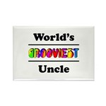 World's Grooviest Uncle Rectangle Magnet (100 pack