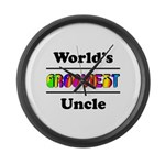 World's Grooviest Uncle Large Wall Clock