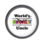 World's Grooviest Uncle Wall Clock