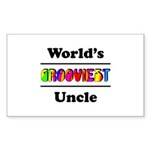 World's Grooviest Uncle Sticker (Rectangle 50 pk)