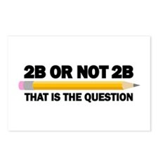 2B or not 2B Postcards (Package of 8)