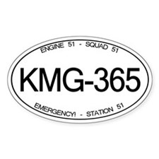 KMG-365 Squad 51 Emergency! Oval Decal
