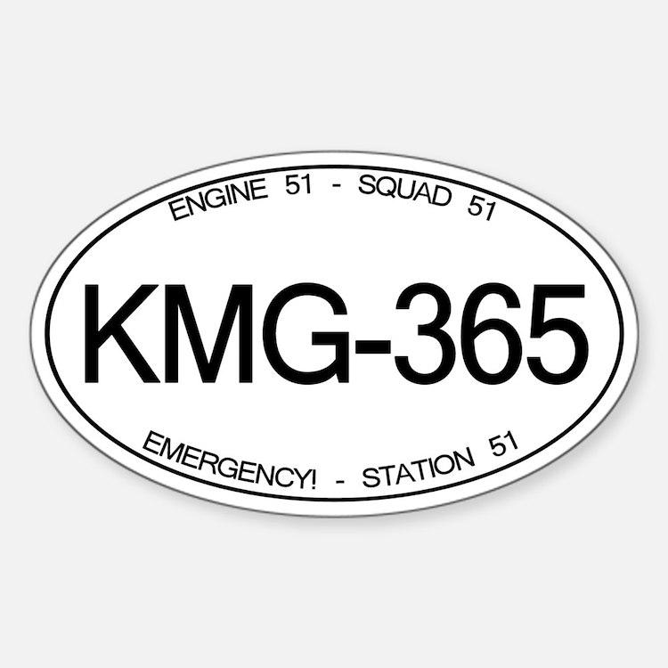 KMG-365 Squad 51 Emergency! Oval Decal