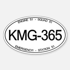 KMG-365 Squad 51 Emergency! Oval Stickers