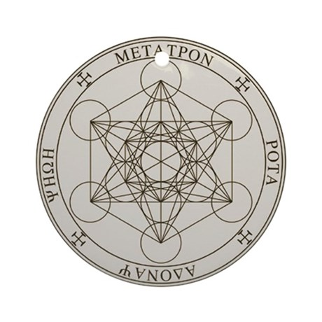 Seal of Metatron Ornament (Round)