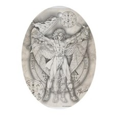 Archangel Uriel Ornament (Oval)