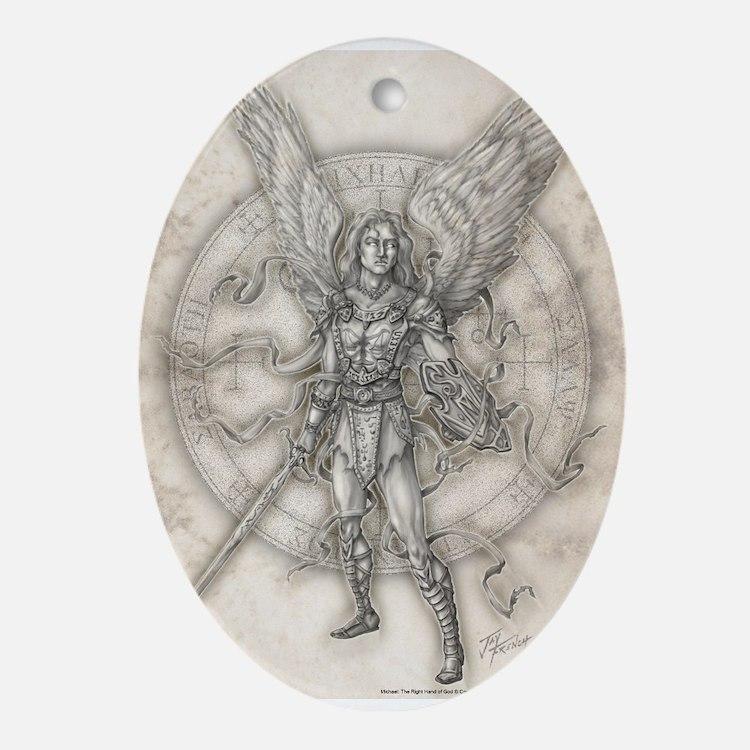 Archangel Michael Ornament (Oval)