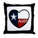Austin Heart Throw Pillow