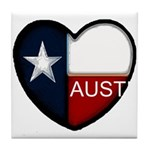 Austin Heart Tile Coaster