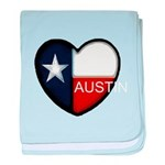 Austin Heart baby blanket