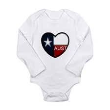 Austin Heart Long Sleeve Infant Bodysuit