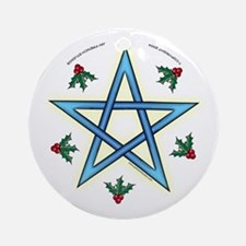 Holiday Pentacle Ornament (Round)