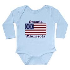 Onamia US Flag Long Sleeve Infant Bodysuit