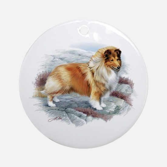 Shetland Sheepdog Ornament (Round)