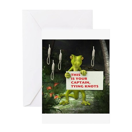 Captain Tying Knots Greeting Card