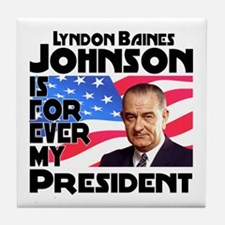 LBJ 4ever Tile Coaster