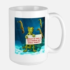 Sea Horse Sea Shell Large Mug