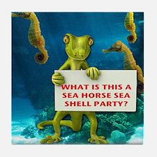 Sea Horse Sea Shell Tile Coaster