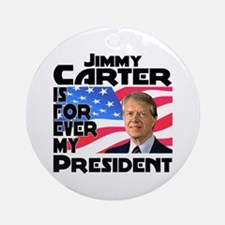 Jimmy Carter My President Ornament (Round)