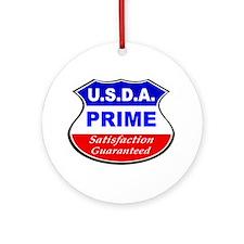 USDA Prime Ornament (Round)