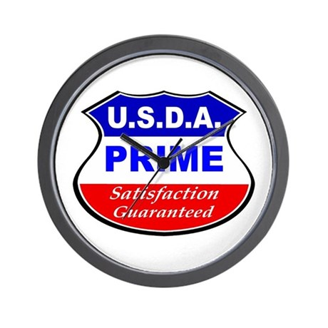 USDA Prime Wall Clock