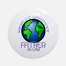 World's Greatest Father-In-Law Ornament (Round)