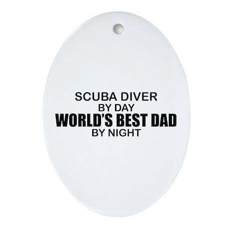 World's Greatest Dad - Scuba Diver Ornament (Oval)