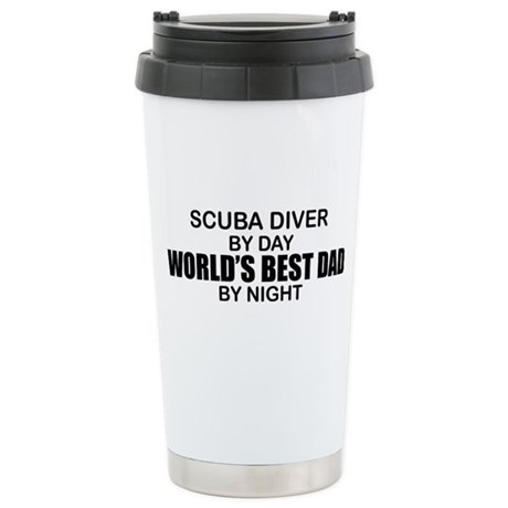 World's Greatest Dad - Scuba Diver Stainless Steel