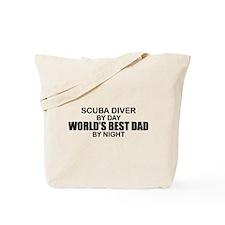 World's Greatest Dad - Scuba Diver Tote Bag