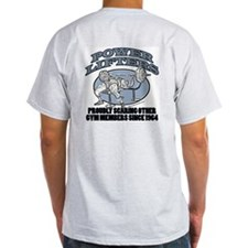 POWERLIFTERS SCARE ME Ash Grey T-Shirt