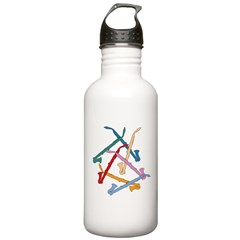 Colorful Alto Clarinet Water Bottle