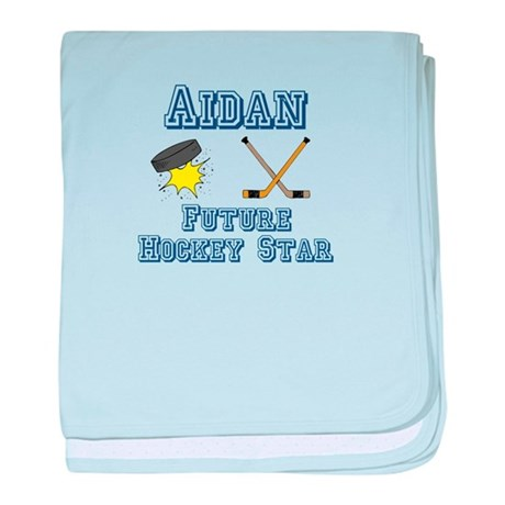 Aidan - Future Hockey Star baby blanket