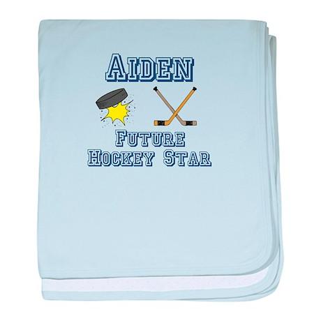 Aiden - Future Hockey Star baby blanket