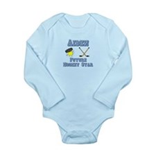 Aiden - Future Hockey Star Long Sleeve Infant Body