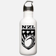 rugby new zealand Sports Water Bottle