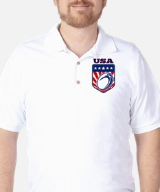 rugby usa Golf Shirt