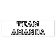 Team Amanda Bumper Bumper Sticker