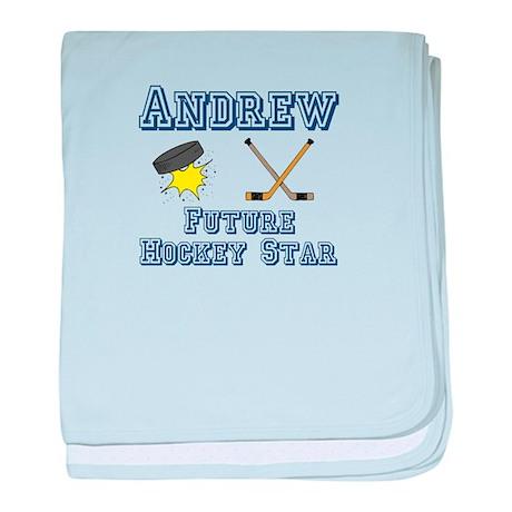 Andrew - Future Hockey Star baby blanket