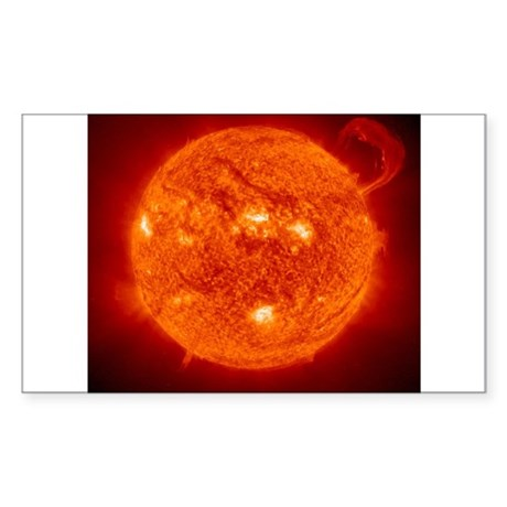 Solar Flare Rectangle Sticker