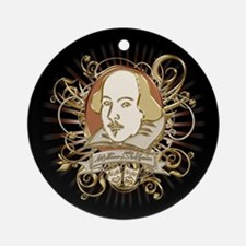 Shakespeare Crest Ornament (Round)